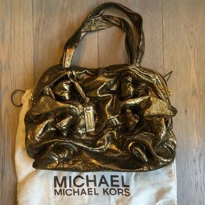 Michael Kors Limited Edition gold Leather handbag